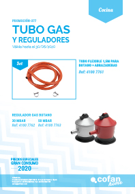 TUBO DE GAS Y REGULADORES
